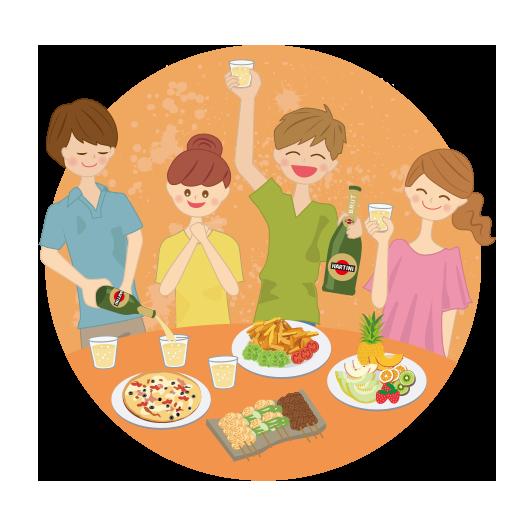 シャンパンファイトフェスでは、美味しいお酒と料理を楽しもう!